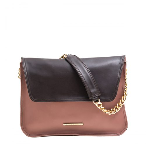 VICTORIA-shoulder bag-old rose-brown