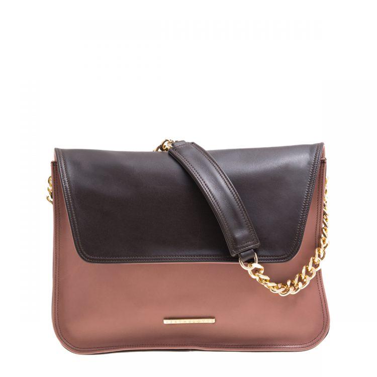 VICTORIA-shoulder bag-old rose-brown