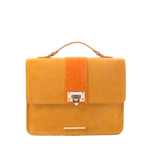 YELLOW SUEDE SHOULDER BAG
