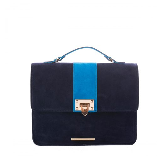 BLUE SUEDE SHOULDER BAG
