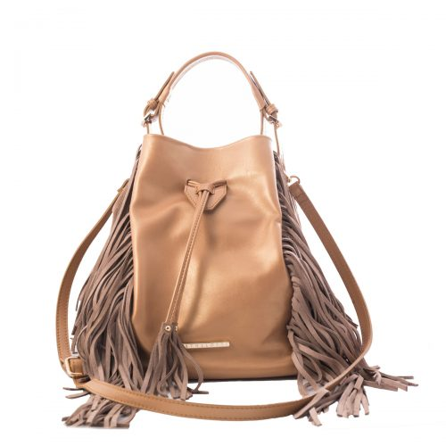 handmade rose gold leather bag women