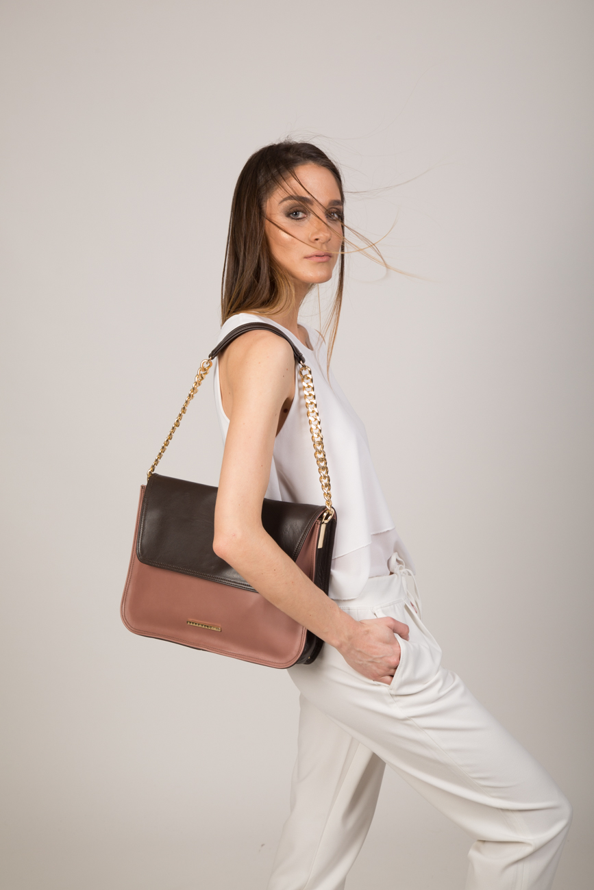 victoria-women-lether bag-old rose