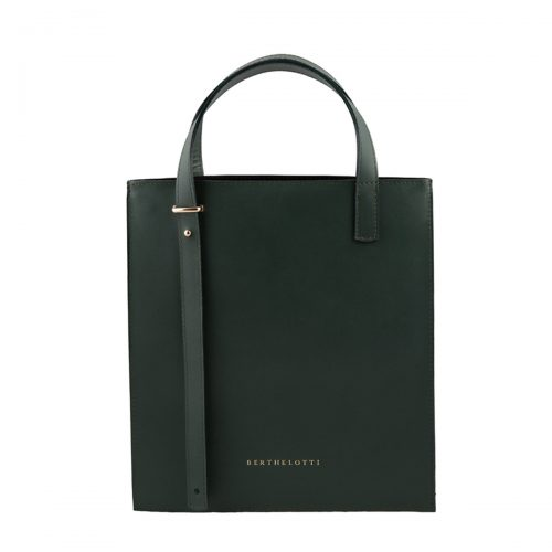 kierra mini tote leather bag-berthelotti-dark green leather-5