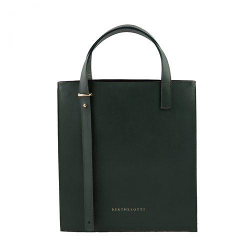 kierra mini tote leather bag-berthelotti-dark green leather-5