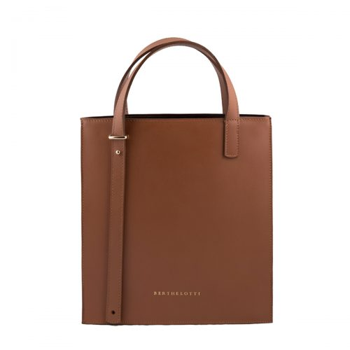 kierra tote leather bag-berthelotti-woman-tan leather-1