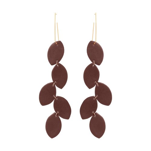 LEA LEATHER rich EARRING BERTHELOTTI