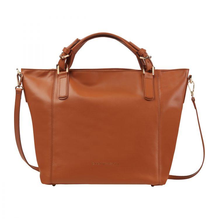 Berthelotti Tan Noreen Orange bag woman style fashion leather