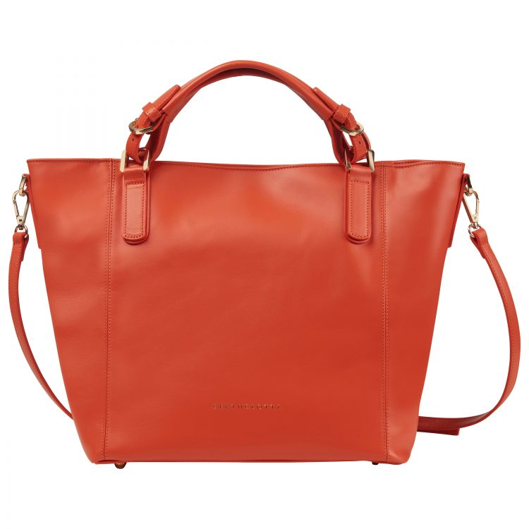 Berthelotti Black Noreen Orange bag woman style fashion leather