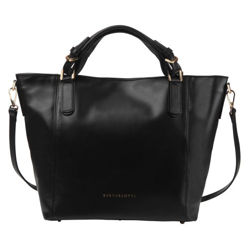 Berthelotti Black Noreen tote bag woman style fashion leather