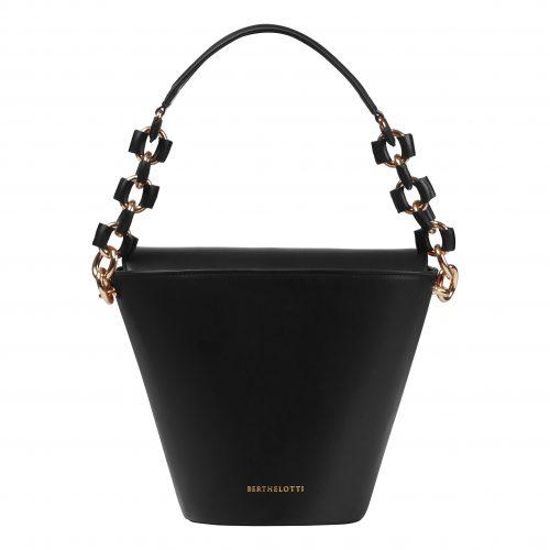 Berthelotti black large Margot Bucket bag woman style fashion mini leather
