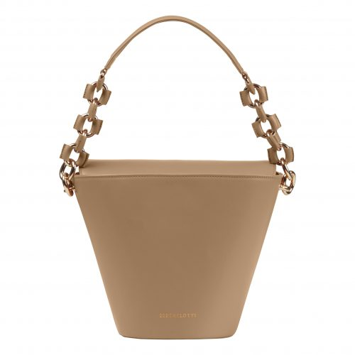 Berthelotti Pale olive large Margot Bucket bag woman style fashion leather