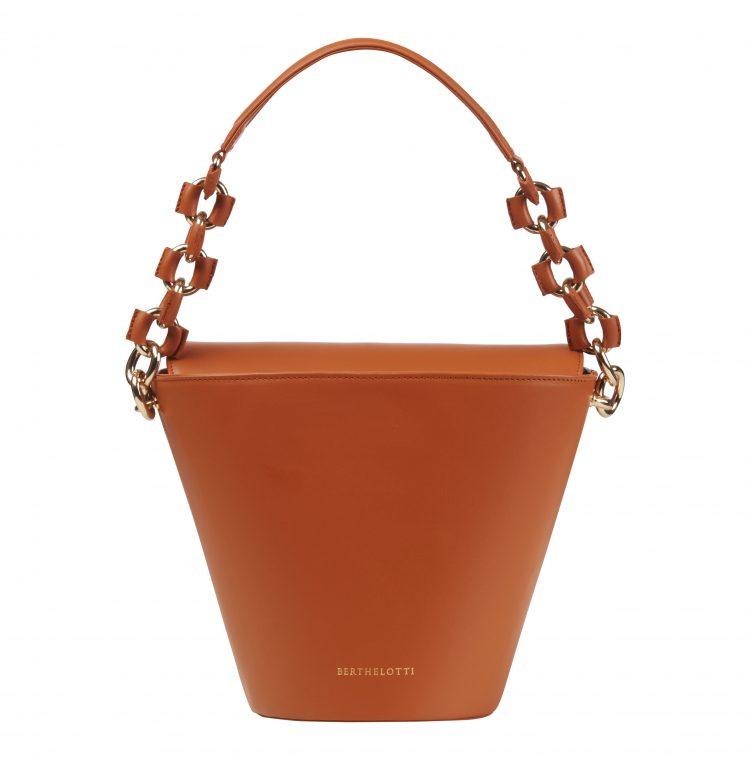Berthelotti Tan large Margot Bucket bag woman style fashion leather