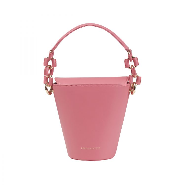 Berthelotti woman fashion tophandle Margot leather pink bucket bag