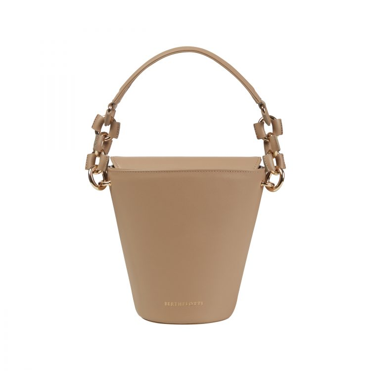 Berthelotti woman fashion tophandle Margot leather pale olive bucket bag