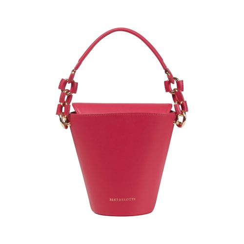 Berthelotti woman fashion tophandle Margot leather Fuchsia bucket bag