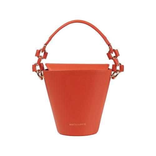 Berthelotti woman fashion tophandle Margot leather Orange bucket bag