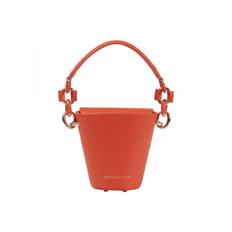 Berthelotti orange small Margot Bucket bag woman style fashion mini leather
