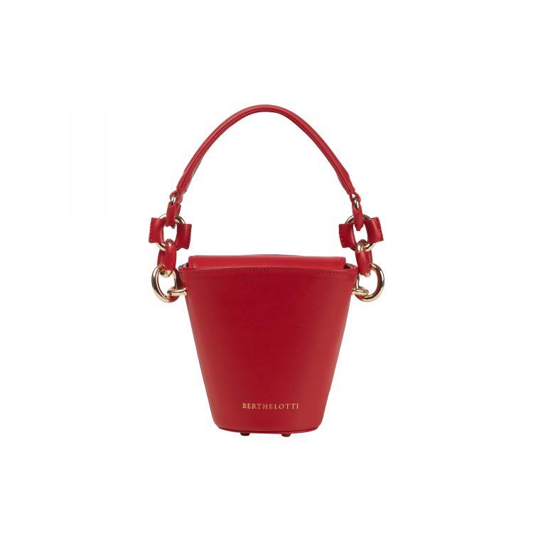 Berthelotti fuchsia small Margot Bucket bag woman style fashion mini leather