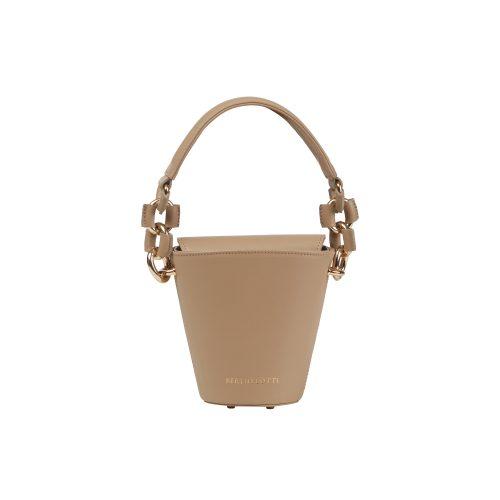 Berthelotti pale olive small Margot Bucket bag woman style fashion mini leather