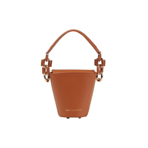 Berthelotti tan small Margot Bucket bag woman style fashion mini leather