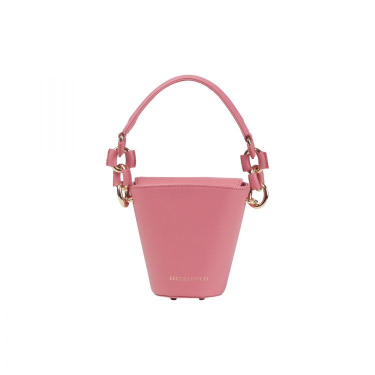 Berthelotti pink small Margot Bucket bag woman style fashion mini leather